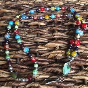 Lovely millefiori bead lanyard 🌸 🌺